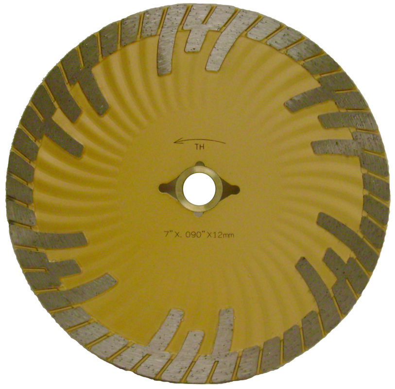 Cold Press Diamond Saw Blades , Turbo Sintered Diamond Stone Cutting Blades