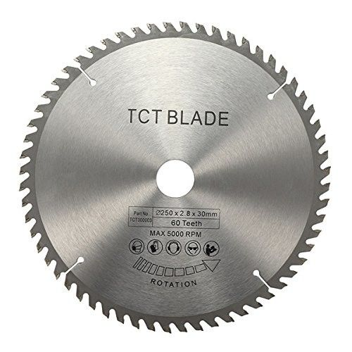 250mm TCT Circular Saw Blade For Wood Cutting Hard Alloy Steel Material